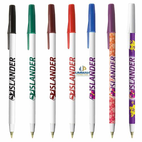 500 Personalized Classic Stick Pen Printed with Your Logo / Text in Full color