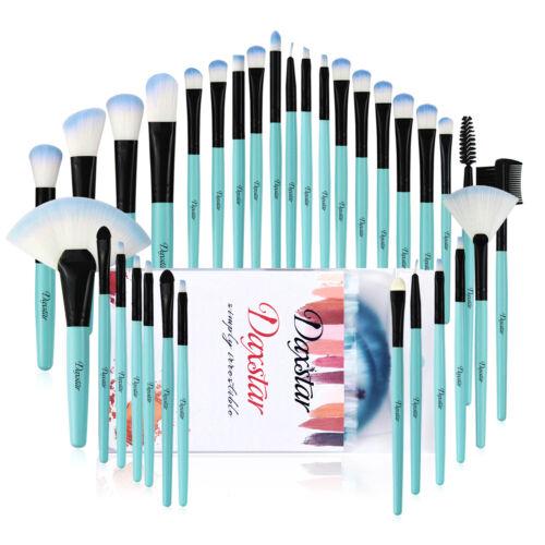32Pcs Pro Makeup Brushes Set Cosmetic Powder Foundation Brush Blue Brush & Case