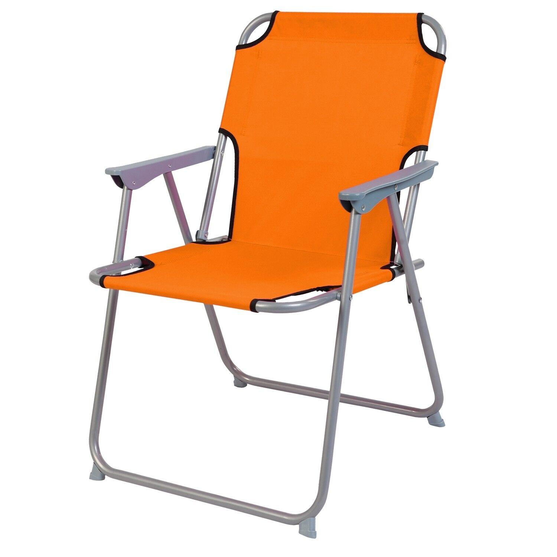 Campingstuhl Camping-Klappstuhl  Metall / Stoff Orange… | 04260581816247