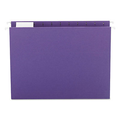 Smead Hanging File Folders 15 Tab 11 Point Stock Letter Purple 25box 64072