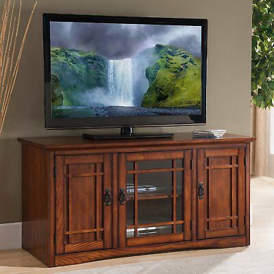 Leick Furniture Riley Holliday Mission Tall TV Stand, 50-Inch in Oak Finish New ()
