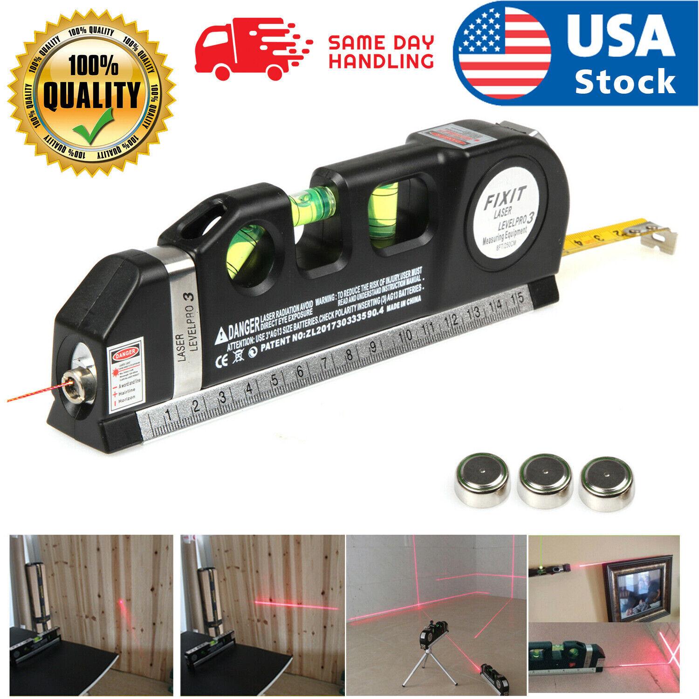 Laser Level Multipurpose Vertical Horizon Measuring Tape Aligner Ruler Cross Lin Home & Garden