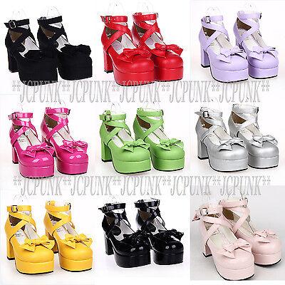 New Lolita Tea Party Badydoll Sweet Bows Princess Dress Shoes 9812-8 Custom made