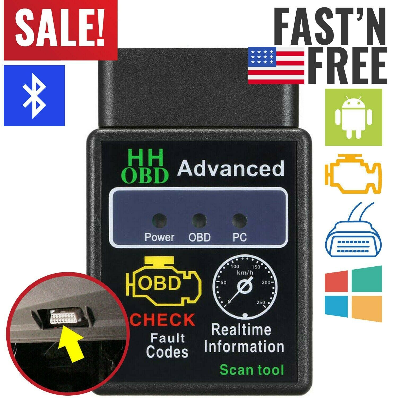 Bluetooth OBD2 Scanner Code Reader Automotive Diagnostic Tool Car OBDII ELM 327 Automotive Tools & Supplies