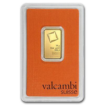 10 gram Valcambi Gold Bar - Assay Card - SKU #77423