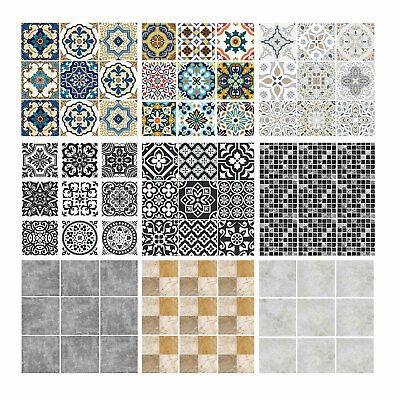 Tile Wall Stickers Transfers Moroccan / Mosaic Pattern For Kitchen Bathroom Home - Mosaic Patterns