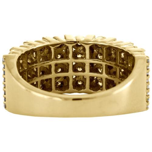 10K Yellow Gold Mens Round Diamond Wedding Band 9mm Miracle Set Ring 0.76 CT. 3