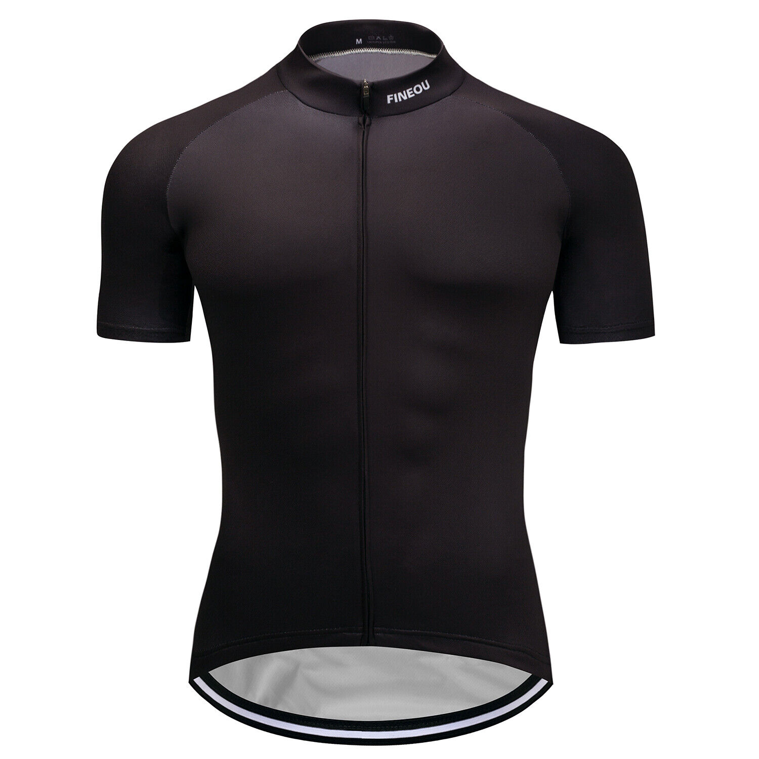 Men's Black Cycling Jersey Summer Short Sleeve Breathable Qu