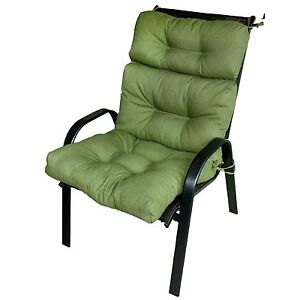 outdoor high back chair cushions ebay. Black Bedroom Furniture Sets. Home Design Ideas