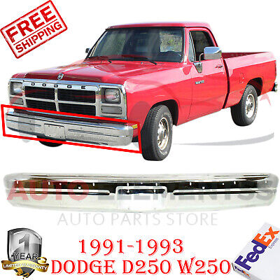 Front Bumper Chrome Steel  For 1991-1993 Dodge Pickup D/W-150 250 350 Ramcharger 1993 Dodge W150 Pickup