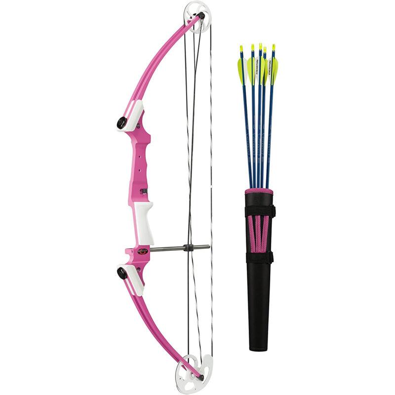 Genesis Archery 12076 Pink Original Compound Target Practice Bow Kit, Left Hand