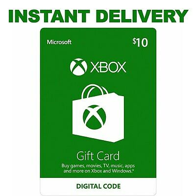$10 XBOX Live $10 USD Gift Card - XBOX ONE and 360 Instant Delivery-US Region
