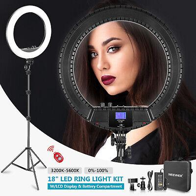 """Neewer Luce LED Anulare Bicolore 18"""" con Telecomando Adattatore per Selfie Video"""