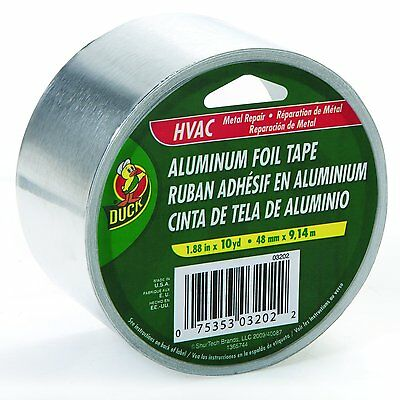 Duck 280416 Hvac Metal Repair Aluminum Foil Tape 1.88 X 10 Yard
