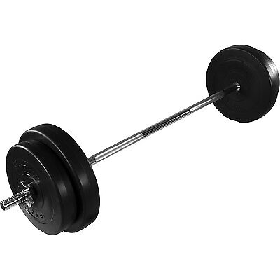 MOVIT Langhantel Set 30kg Hantel Langhantelstange Gewichte Hantelscheiben