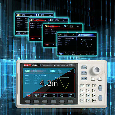 Functionarbitrary Waveform Generator 30mhz Dds 200msas Frequency Meter