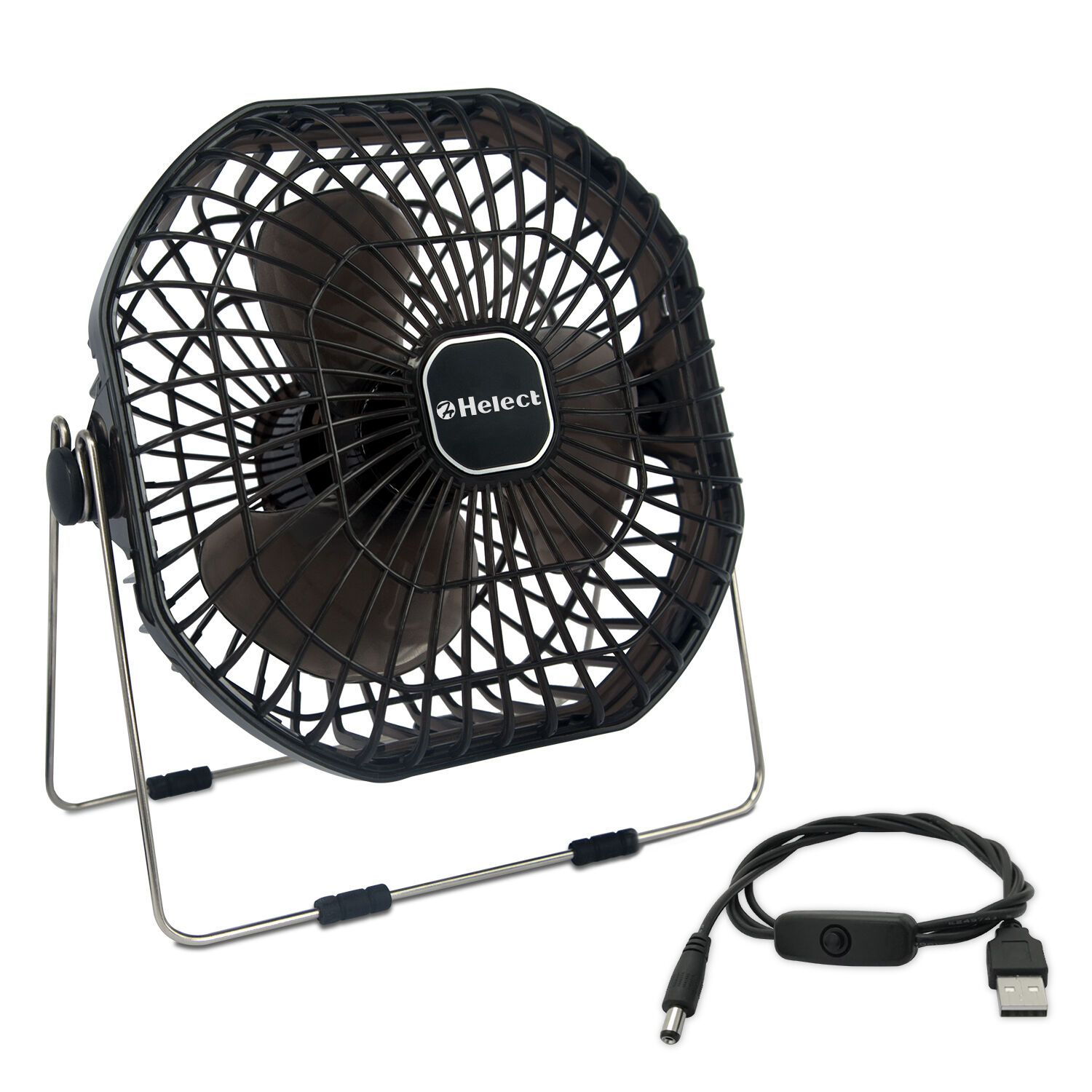 Helect 7-Inch Mini USB Desk Fan with Low Noise and Strong Ai