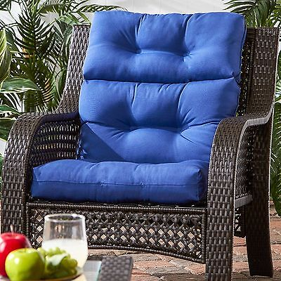 "Patio Chair Cushion Set Of 2 Wicker Furniture High Back Deep Seat 44""x 22  S"