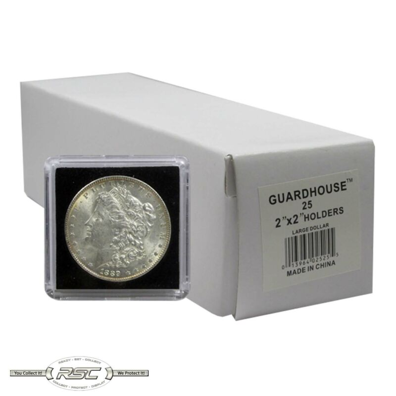 25 - Guardhouse 2x2 Tetra Plastic Snaplocks Coin Holder for Large Silver Dollars