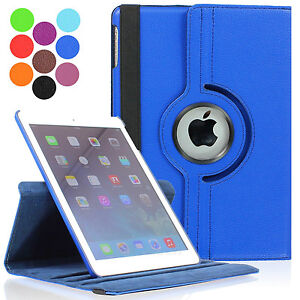 360 Degree Rotating PU Leather Case Cover Swivel Stand for Apple iPad Air 5 5th