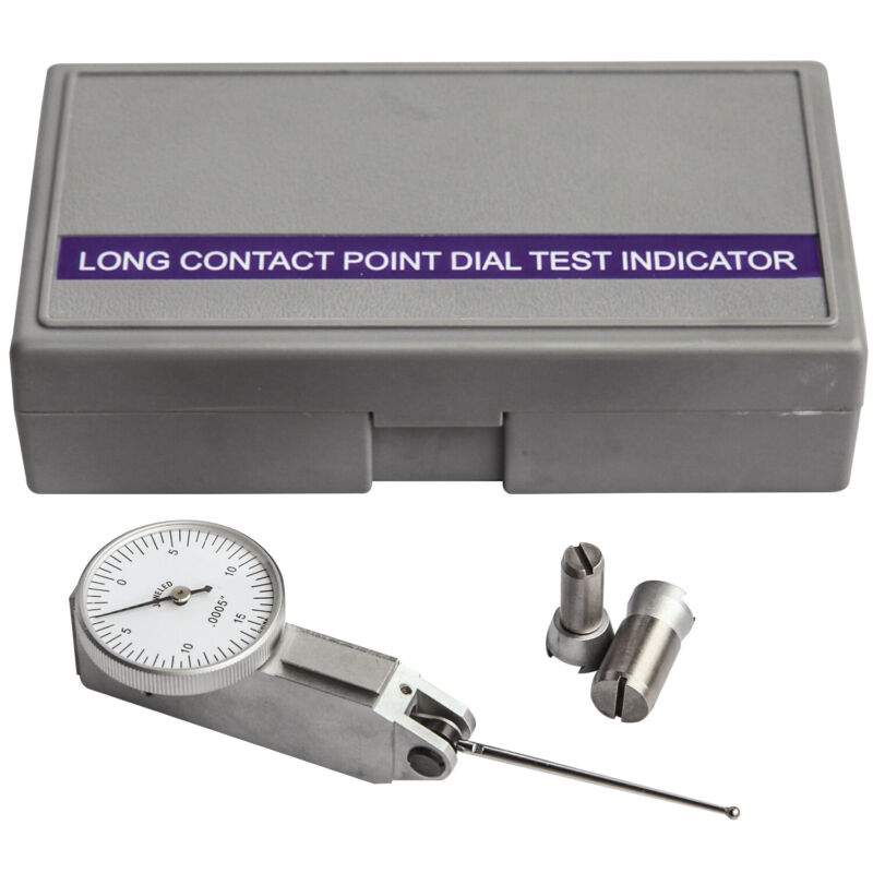 """HFS(R) 0.03"""" X 0.0005"""" Inch Dial Test Indicators. Extra Long Testing Bar 1.47"""""""
