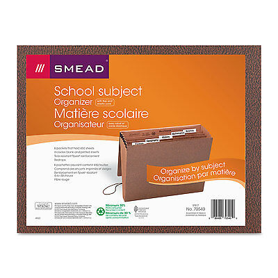 Smead Expanding File 6 Pockets 1/5 Tab Redrope Printed Letter Redrope Printed