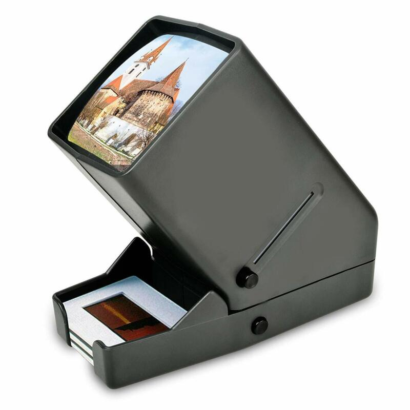 "LED Negative Slide Viewer Mini Desk Top Portable 35mm 2X2"" Mounted Slides"