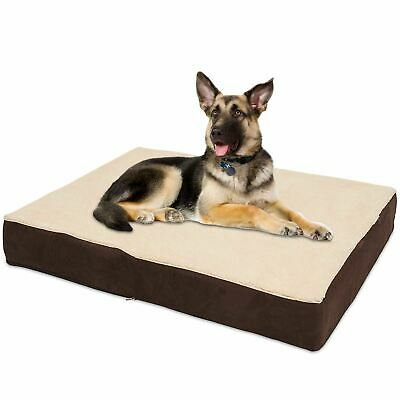 KOPEKS Rectangular Orthopedic Memory Foam Dog Bed PLUSH - Extra