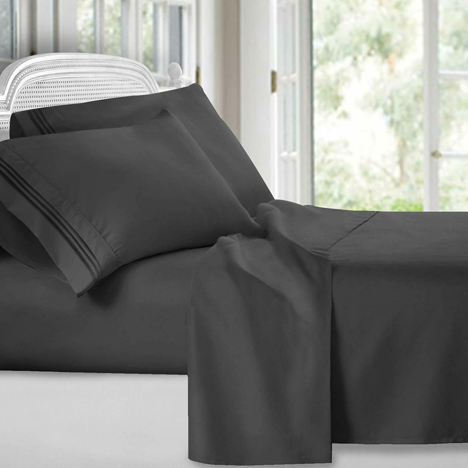 premier 1800 collection soft 4pc bed sheet