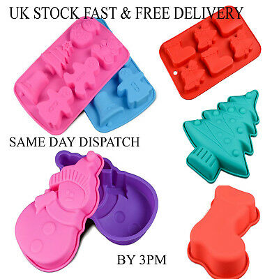 Christmas Chocolate Cake Ice Mould Tray Bakeware Mold Candy Silicone Vincenza