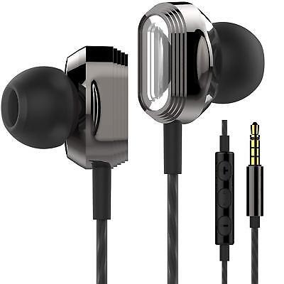 Betron ProX7 Noise Isolating Earphones Headphones Dual Driver, Mic & Vol Control