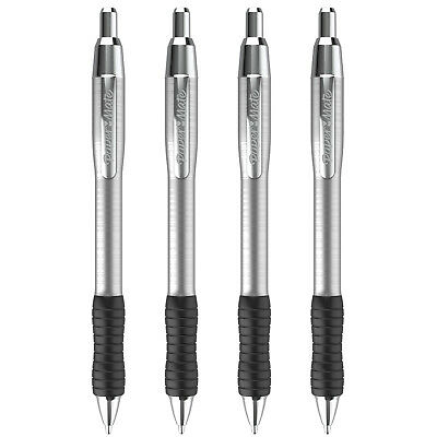 Paper Mate PROFILE STAINLESS STEEL Ballpoint Pens, 4-Count (Choice of Ink Color)