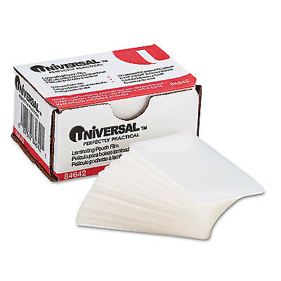 Universal Clear Laminating Pouches 5 Mil 2 14 X 3 34 Business Card Size 100