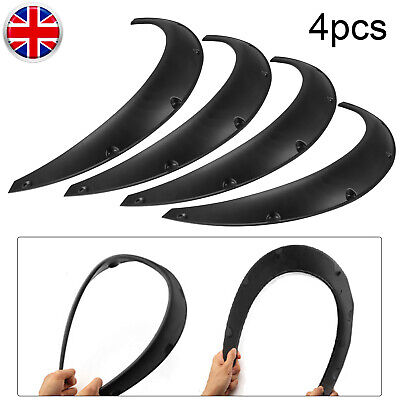 Universal 4*Car Fender Wheel Arches Flares Extension Auto Wide Body Polyurethane
