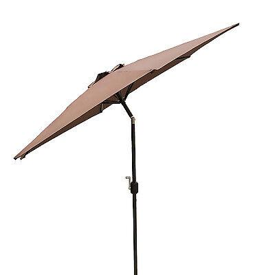 9 ft Outdoor Patio Umbrella Market Garden Yard Beach w/ Crank Tilt - Brown New