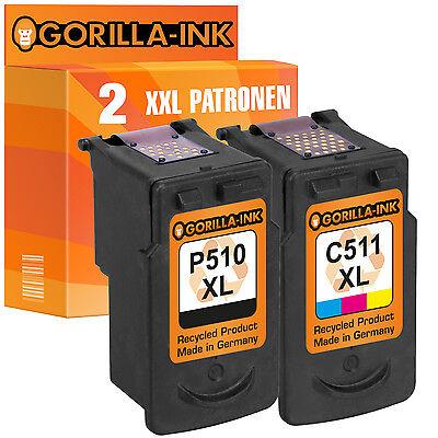 2 Druckerpatronen XXL für Canon PG-510 & CL-511 Pixma IP2700 MP230 MP240 MP250 online kaufen