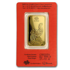 1 oz Gold Bar - PAMP Suisse Year of the Rooster (In Assay) - SKU #104120