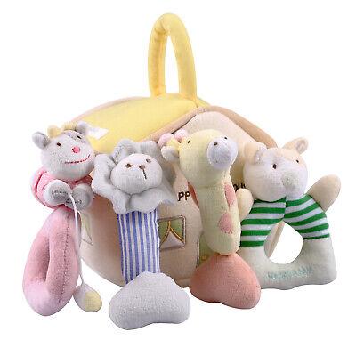 Baby Soft Rattles Set 4 Plush,Stuffed Animals,newborn baby gifts,Gift for 0-12M