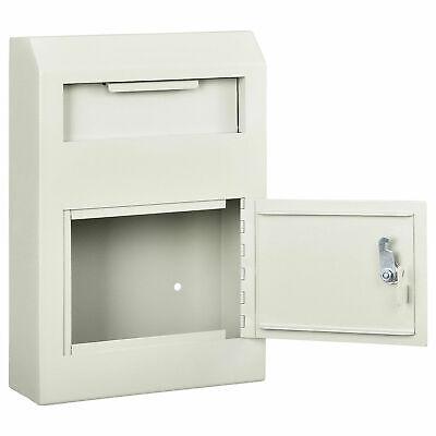 Drop Box Safe Wall Mount 10w X 4-14d X 15h Beige
