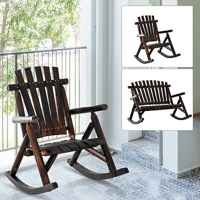 Rustic Outdoor Patio Adirondack Rocking Chair Patio Furniture Porch Rocker Fir Adirondack Rocking Chair
