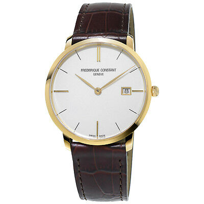 Frederique Constant Slimline Men's FC-220V5S5 Quartz Silver Dial 38mm Watch