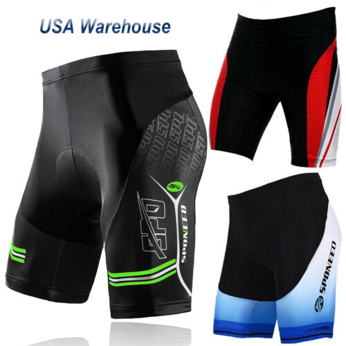 SPONEED Cycling Shorts Men Stretchy Gym Spinning Tights MTB