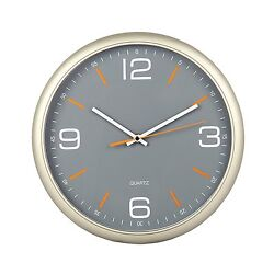 Tempus Contemporary Wall Clock with Silent Sweep Quiet Movement 11.8 Gray