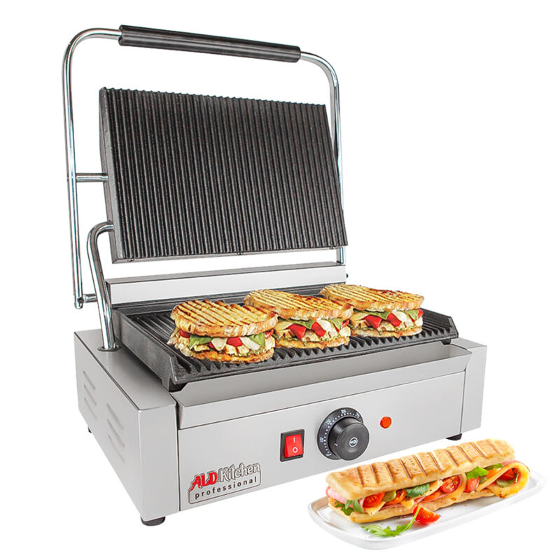 Panini Press | Sandwich Maker Machine with Wide Surface | Adjustable Control