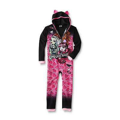 NEW KOMAR KIDS MONSTER HIGH GIRLS' LICENSED ONE-PIECE WITH HOODIE](Monster High New Girls)