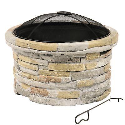 Terrassenofen Big Beech mit Steindekor, Feuerschale