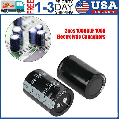 2pc 10000uf 100v 35x50mm Capacitor Electrolytic 10000uf Mfd 10000mfd 100 Volt Us