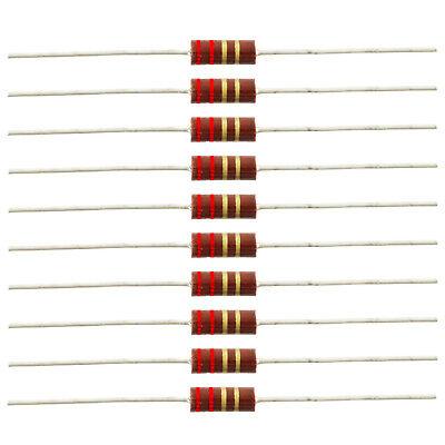 12 Watt Carbon Comp Resistors - 2.2 Ohm 10 Pack