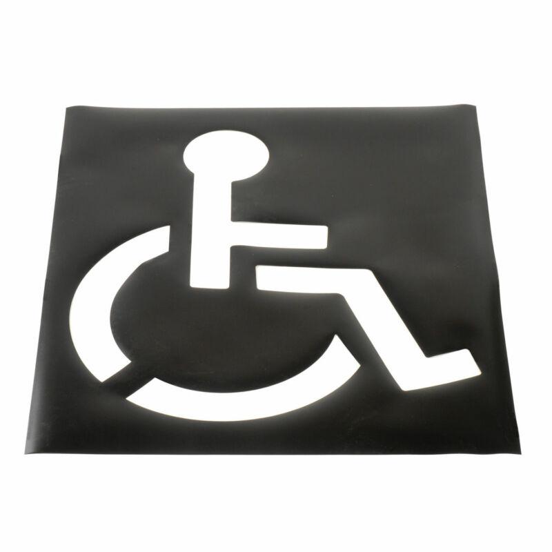 Parking Lot Stencil, Handicapped Symbol