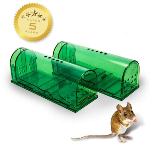 Humane Mouse Traps - 2 Pack - Live Catch and Release - #1 Best Selling Mousetrap